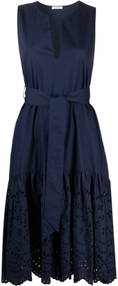 P.A.R.O.S.H. Belted Broderie Anglaise Dress