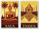 "McGaw Graphics Exotic India and Escape to Asia Set by Steve Forney 24""x16"" Art Print Poster"
