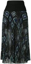 Sacai plissé pleated culottes - women - Polyester/Cupro - 3