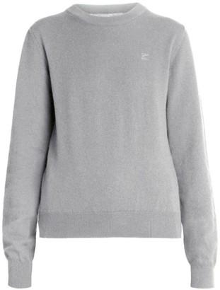 Maison Margiela Logo Elbow-Patch Crewneck Wool Sweater
