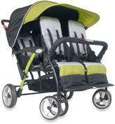 Foundations® Quad SportTM Splash of Color 4-Passenger Stroller in Lime