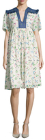Manoush Alphabet Floral Shift Dress