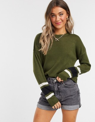 Brave Soul seattle sleeve stripe jumper