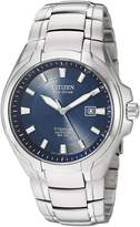 Citizen Men's Eco-Drive Titanium Watch Blue BM7170-53L