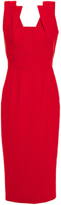 Roland Mouret Coleby Pleated Crepe Dress