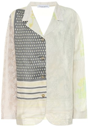 Marine Serre Printed silk pajama top