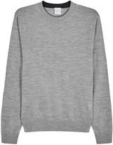 Paul Smith Grey Fine-knit Merino Wool Jumper
