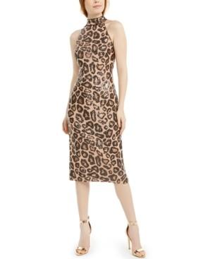 SHO Animal Sequin Midi Dress