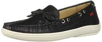 Marc Joseph New York Unisex Leather Boys/Girls Casual Comfort Slip On Moccasin Tie-Bow Loafer Driving Style