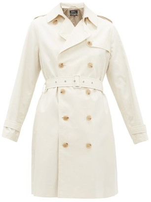 A.P.C. Josephine Double-breasted Cotton Trench Coat - Ivory