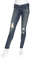 Rag & Bone/jean Exclusive Midrise Ripped Denim Skinny