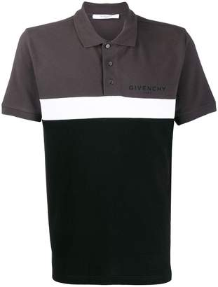 Givenchy colour-block polo shirt