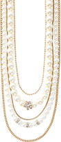 The Limited Multi-Strand Faux Pearl & Chain Necklace