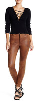 Free People Studded Faux Suede High Waist Skinny Pant
