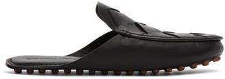Bottega Veneta Black Intrecciato Open Back Loafers