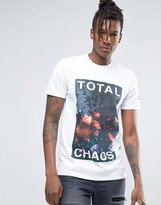 Hype T-Shirt With Floral Statement