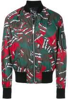 Versus printed bomber jacket