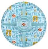 Margaritaville Icon Round Chip and Dip in Blue