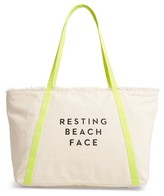 Milly Resting Beach Face Canvas Tote - Ivory