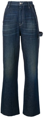 MM6 MAISON MARGIELA flared high waisted jeans