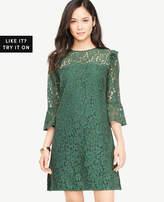 Ann Taylor Bell Sleeve Lace Shift Dress