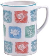 Certified International Water Coral Pitcher