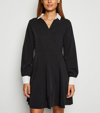 New Look Mela Contrast Collar Dress