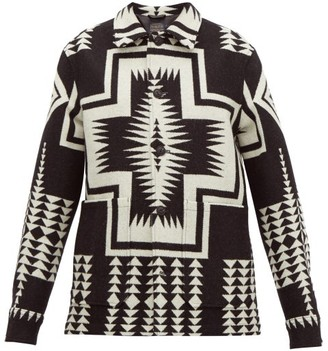Pendleton Harding Wool-blend Jacket - Womens - Black White