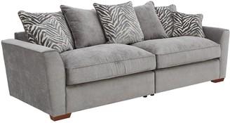 Kingston Fabric 4 Seater Scatter Back Sofa