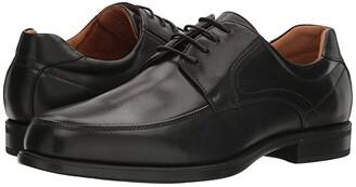 Florsheim Midtown Moc Toe Oxford (Black Smooth) Men's Lace Up Moc Toe Shoes
