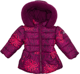 Big Chill Magenta Flower Bubble Jacket - Toddler & Girls