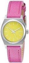 Nixon Women's A5092081 Small Time Teller Leather Analog Display Analog Quartz Watch