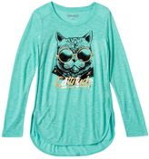 Mudd Girls 7-16 & Plus Size Foil Graphic High-Low Tulip Tee