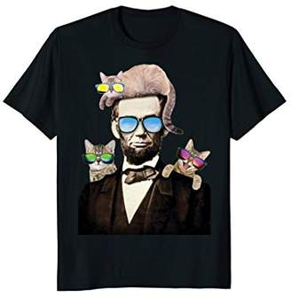 Freeze Abraham Lincoln With Cats Humorous T-Shirt