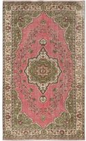 Ecarpetgallery Hand-knotted Anatolian Green and Pink Sunwashed Wool Area Rug (6'2 x 10'4)