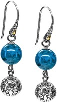 Artisan Crafted Sterling Silver/18K Gold Bead Earrings