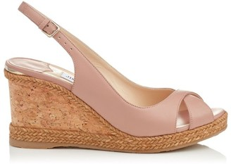Jimmy Choo Amely 80Leather Wedges