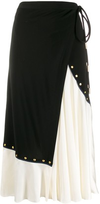 Tory Burch asymmetric wrap midi skirt