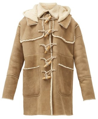 DSQUARED2 Rope-toggle Suede And Shearling Duffle Coat - Beige