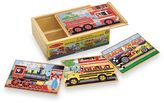 Melissa & Doug Vehicles Jigsaw Puzzles In A Box (Set of 4 Puzzles)