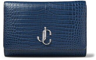 Jimmy Choo Varenne leather clutch bag