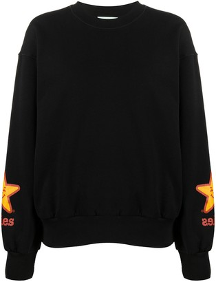 Aries Star Print Sweatshirt