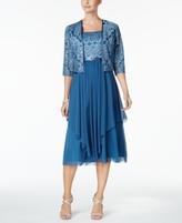 R & M Richards Petite Sequined Dress & Jacket