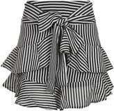 Topshop Stripe Ruffle Tie Mini Skirt