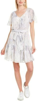 Rebecca Taylor Lily Silk-Blend Mini Dress