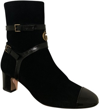 Gucci Marmont Black Suede Ankle boots