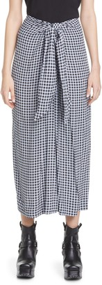 Ganni Print Tie Waist Midi Skirt