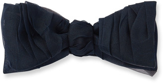 Title Of Work Men's Ruched Silk Organza Bow Tie