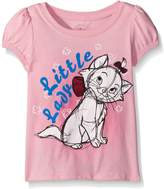 Disney Toddler Girls Marie All Over Adorable Puff Sleeve T-Shirt
