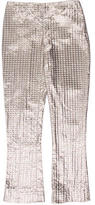 Valentino Cropped Metallic Pants w/ Tags